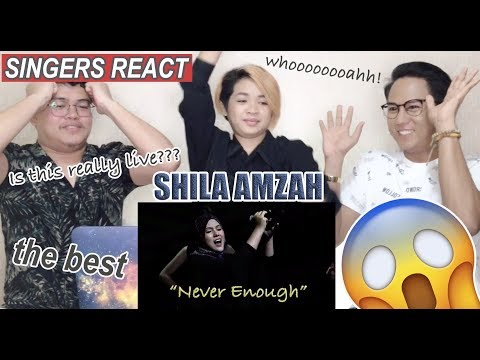Shila Amzah - Never Enough (Live) | SINGERS REACT
