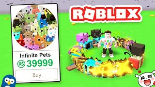 ⚠️ GOT THE MOST EXPENSIVE PETY IN PET SIMULATOR FOR FREE AT ROBLOX! 🐱 WOW 🐶