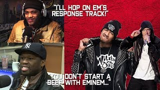Celebrities REACT to Nick Cannon DISS TRACK on EMINEM!! (50 Cent, Joyner Lucas & more)