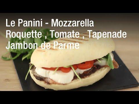 Recette du panini tomate mozzarella roquette tapenade jambon de parme - La maison du panini ...