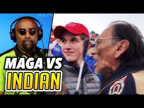 MAGA Kids vs. Indian Activist