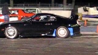 Twin Turbo Supra burn out