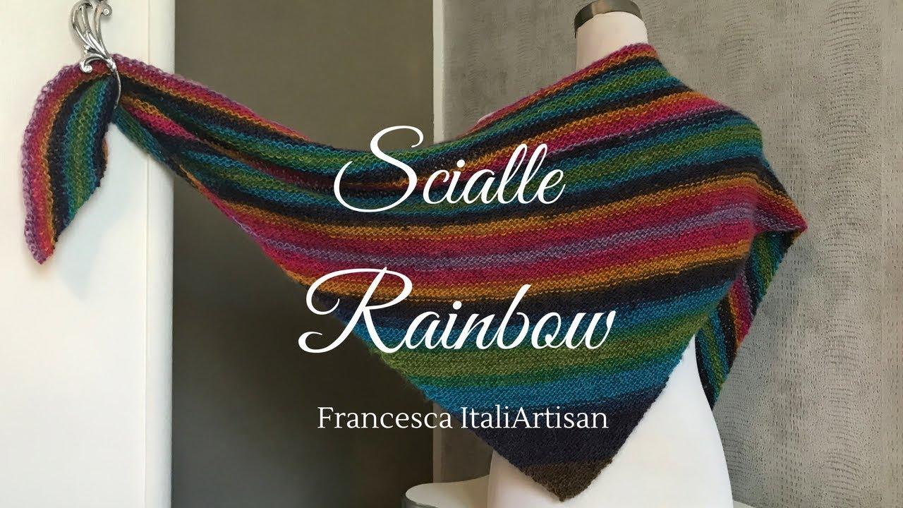 a buon mercato rivenditore online 50% di sconto Scialle I Baktus Triangolare Rainbow (video campione) ferri ...