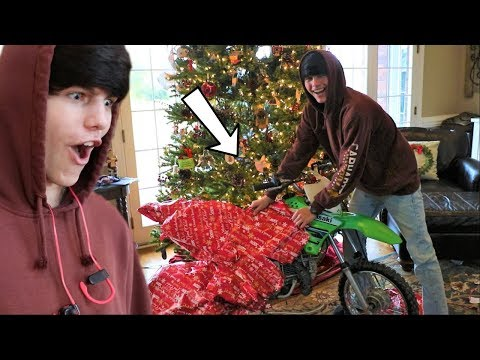 Got my BEST FRIEND a DIRT BIKE for Christmas!