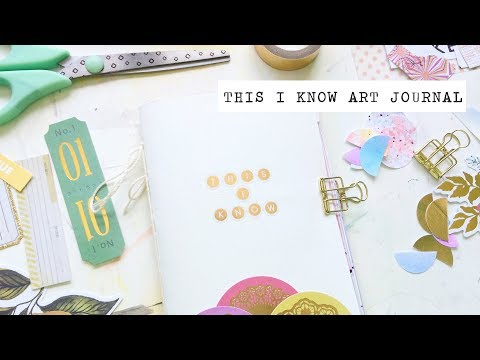 this i know minibook art journal flip through