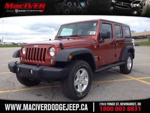 2014 Orange Jeep Wrangler Unlimited Sport 4 Door Newmarket Ontario