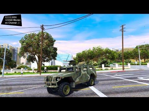 GAZ Tiger from Call of Duty 4 Modern Warefare - GTA V MOD ENB | 2.7K / 1440p !