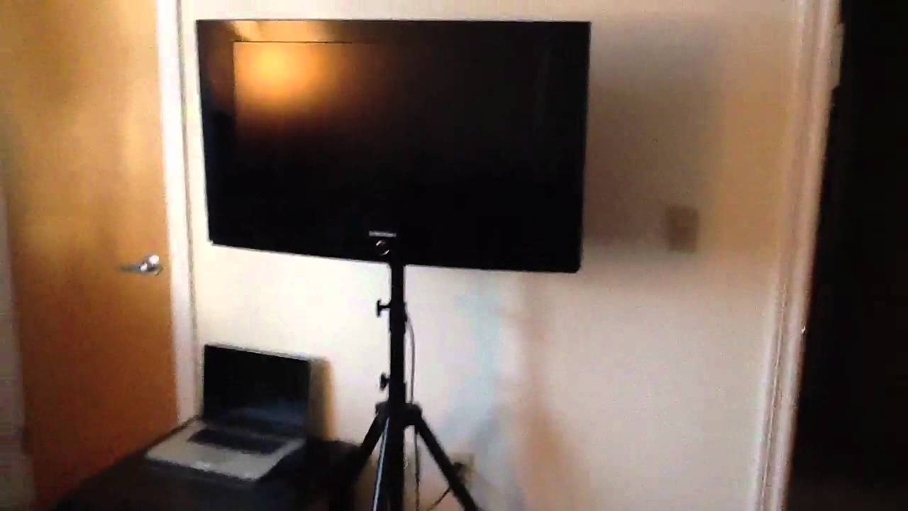 Tv Tripod Display Stand For Home Or Tradeshows Youtube