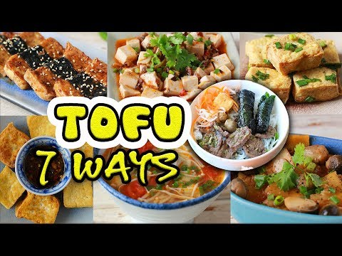 7 VEGAN RECIPES with TOFU – Đậu phụ 7 món