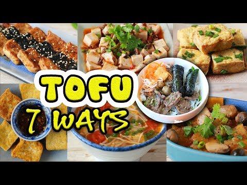 TOFU 7 WAYS (Vegan recipes) – Đậu phụ 7 món
