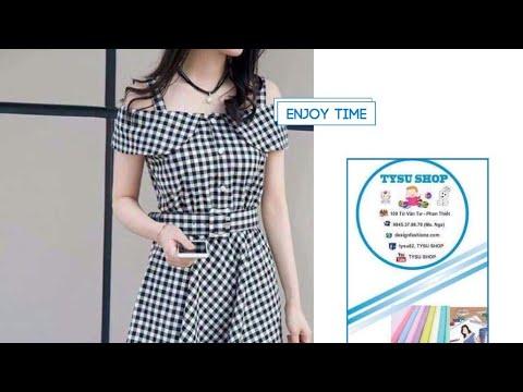Dạy Cắt May Áo Đầm Hai Dây Nơ Hàn Quốc | tysu shop |sewing diy clothes| 730