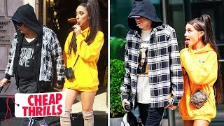 how-to-dress-like-ariana-grande-pete-davidson-cheap-thrills-tatered
