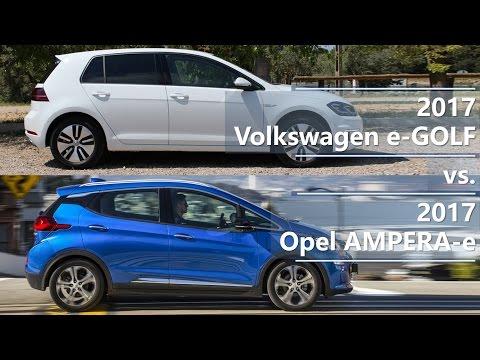 2017 Volkswagen e-GOLF vs. 2017 Opel AMPERA-e (technical comparison)