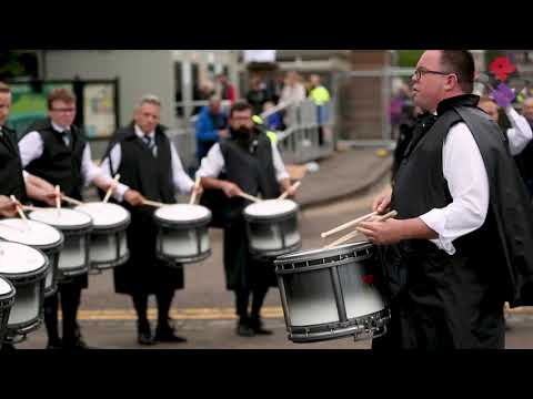 Inveraray & District Pipe Band Drum Corp Led By Steven McWhirter, Worlds 2018