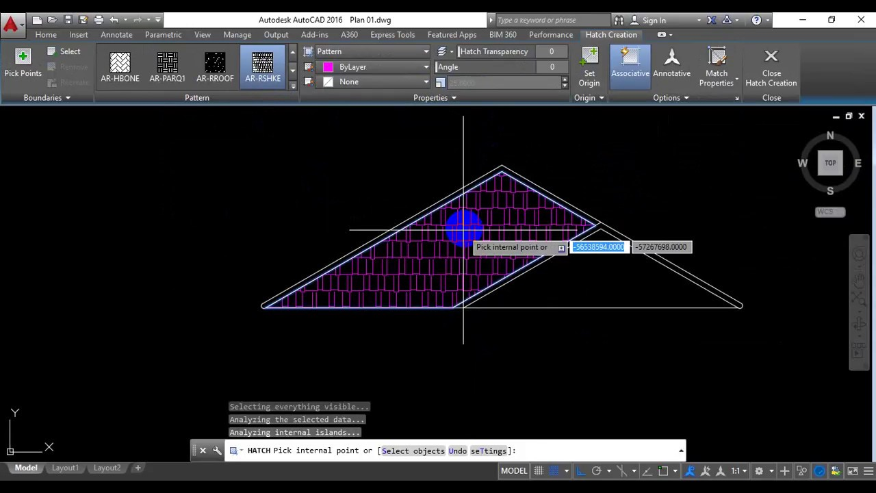 How To Making Elevation Of Roof In Autocad Youtube
