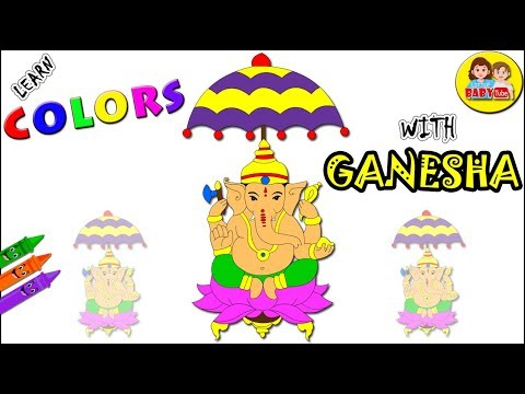 Coloring with Ganesh | Color Learning Video of Ganesh | Colors for Kids