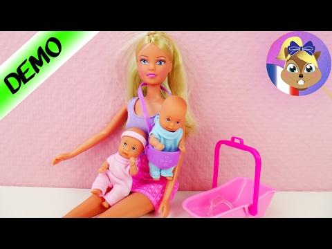 BABYSITTER Steffi Love Poupée avec deux bébés | Poupées Barbie démo en français | Joue avec moi