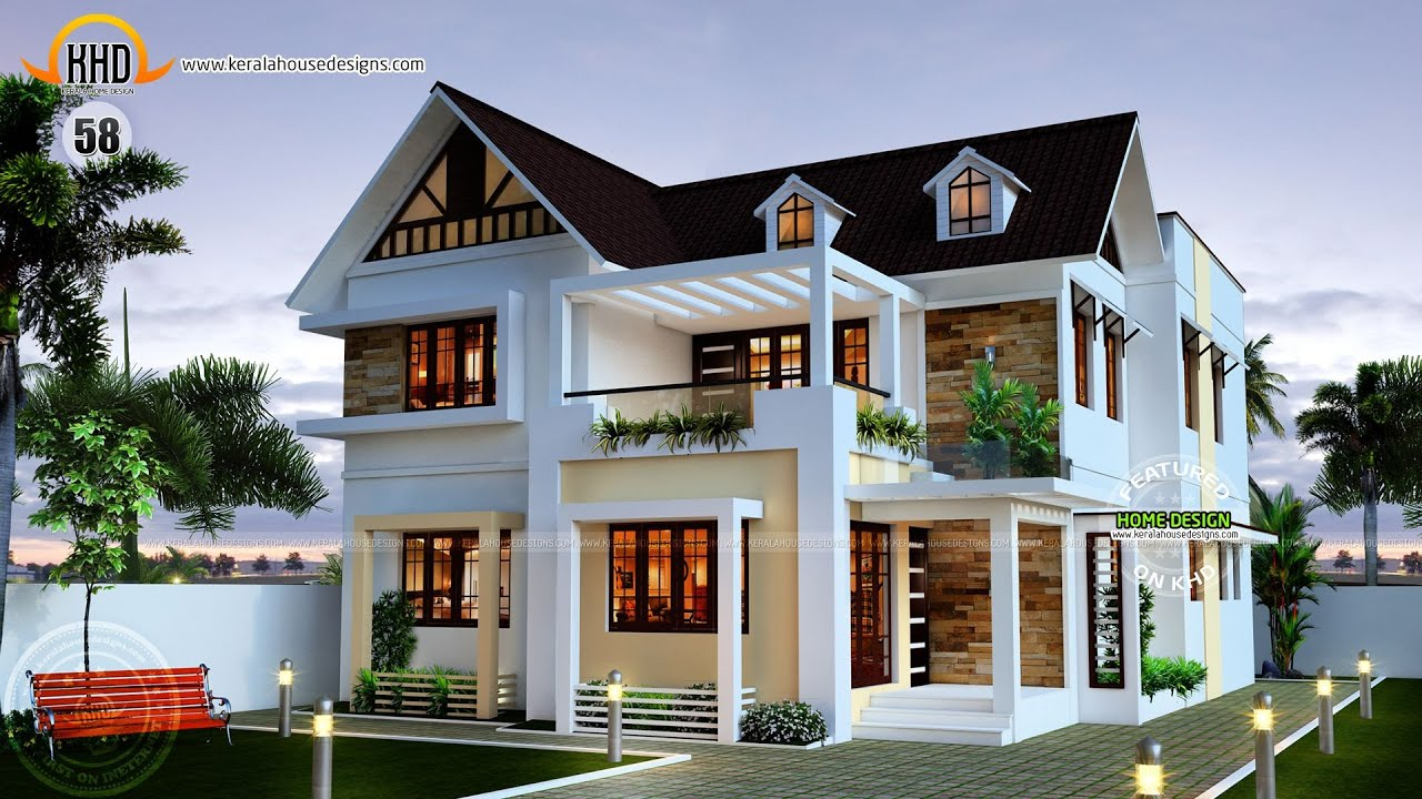 New house plans for april 2015 youtube for New model veedu photos