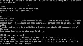 Zork I The Great Underground Empire - 01 First treasure (leather bag of coins)
