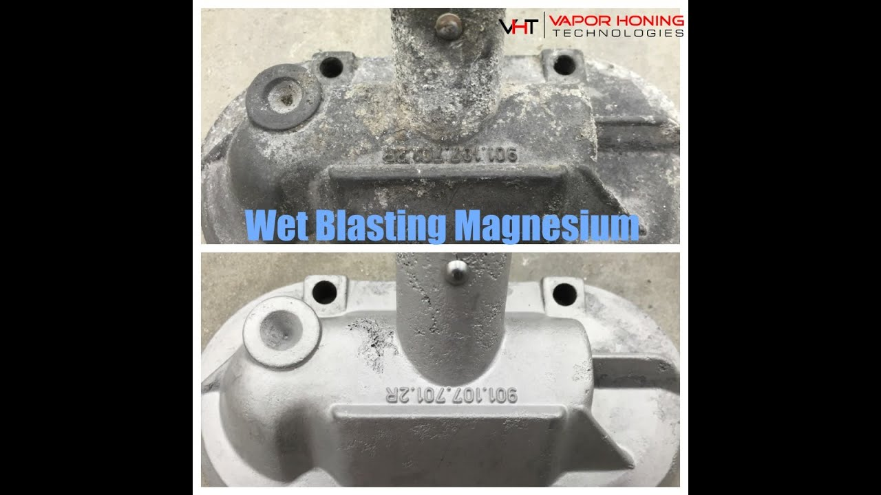 Wet Blasting Magnesium Porsche Engine Parts- Vapor Honing