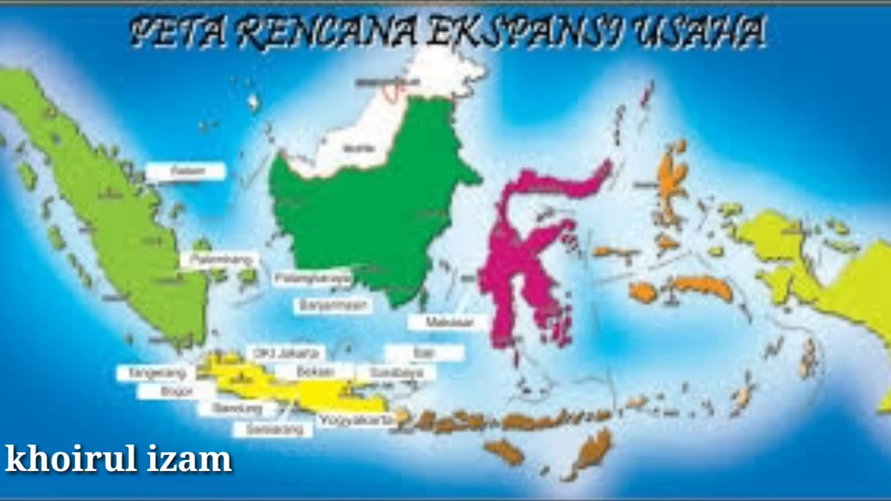 5 Pulau Terbesar Di Indonesia Youtube