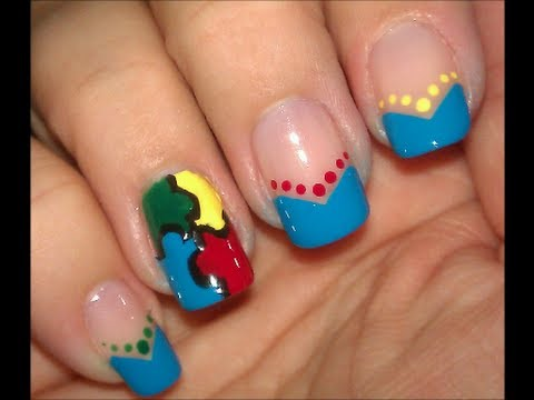 Autism awareness nail art tutorial youtube autism awareness nail art tutorial prinsesfo Images