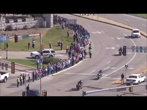 Officer Snyder Funeral Procession