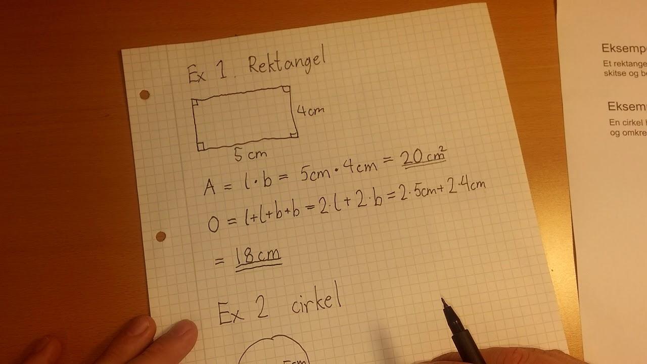 Beregn areal og omkreds med geometriske formler