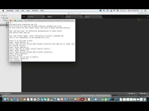 3 - Setting up npm, gulp, browserify and concat