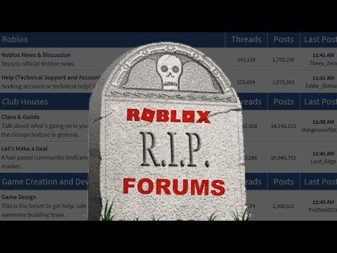 RIP ROBLOX FORUMS