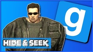 Gmod Hide and Seek Funny Moments: Terminator Burns, Chased By Lui & Tiny/Giant Head Mods