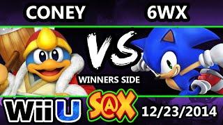 s x coney ness dedede vs 6wx sonic ssb4 winners smash 4 wii u