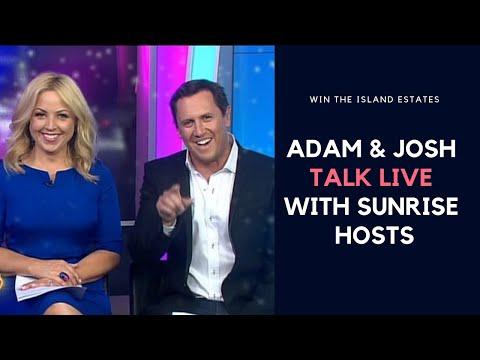 Interview with Adam & Josh Beitz (LIVE) ON Sunrise 7 - Micronesia Raffle
