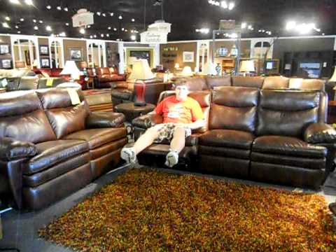 Chocolate Brown Leather sofa with dual power recline : dual power reclining sofa - islam-shia.org