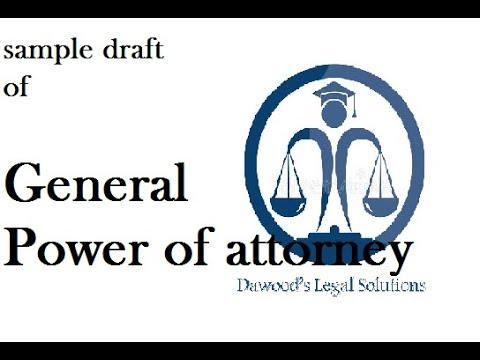 Draft of General power of attorney # legal drafting # sample legal drafts # drafting skills