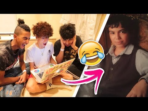 Dyler and the Gang's Reaction to His Old Videos! ( Check out how he looked!!)
