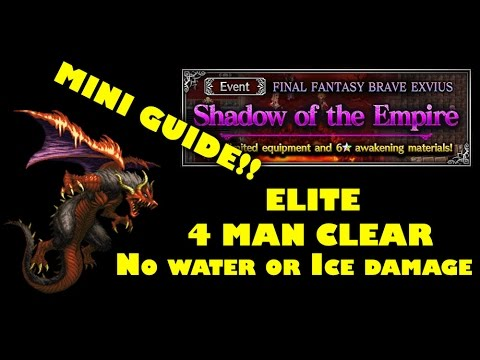 [FFBE] Shadow of the Empire - ELT version 4 Man Clear! Mini Guide!