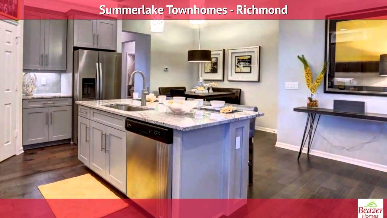 summerlake townhomes richmond floor plan youtube