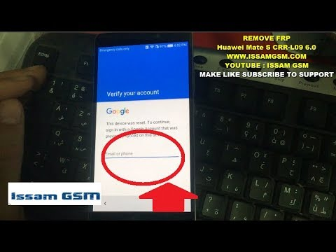Huawei mate s CRR-L09 How remove frp bypass google account secret method