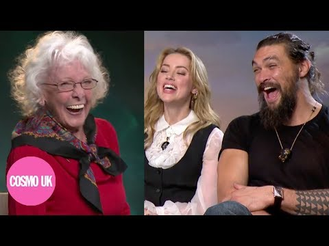 Adorable Grandma s Jason Momoa and Amber Heard for Aquaman  Cosmopolitan UK