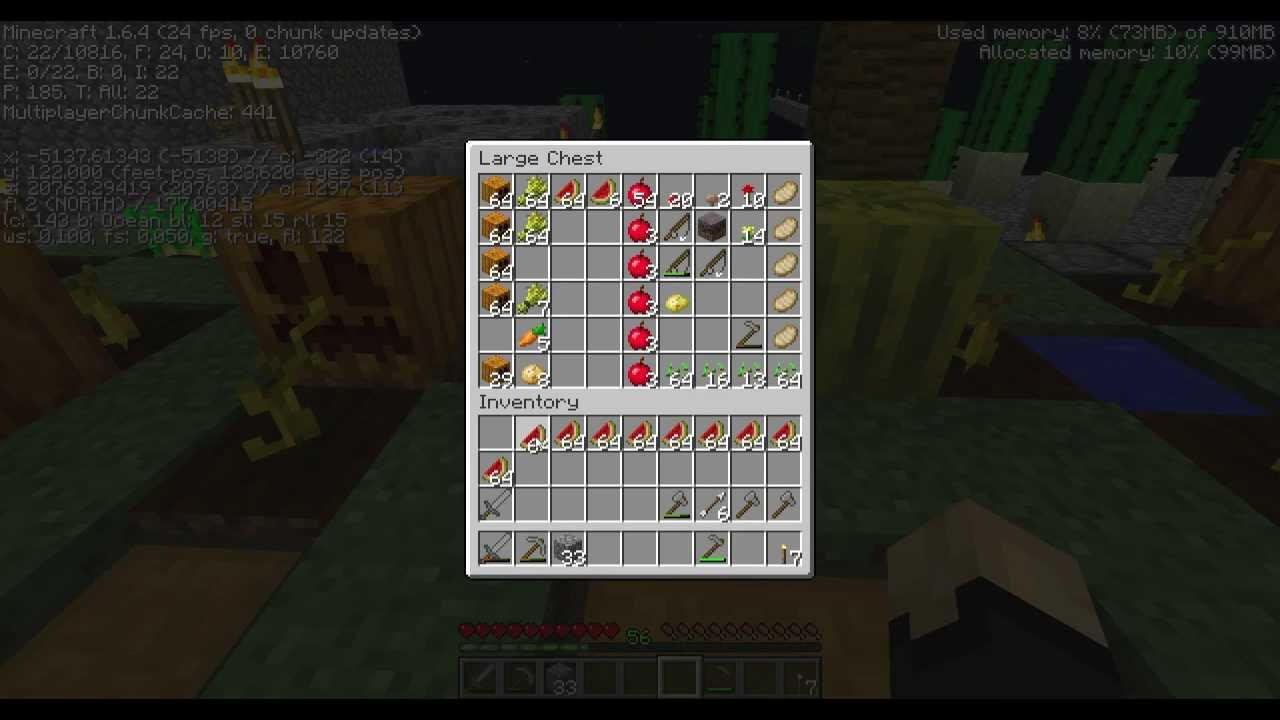 Minecraft Tutorial How to Move ALL Item Stacks of One Type of Item in 11.11  (No Mod)