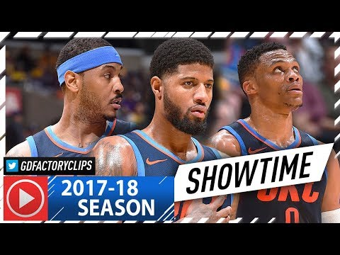 Russell Westbrook, Carmelo Anthony & Paul George BIG 3 Highlights vs Lakers (2018.01.03) - SHOWTIME