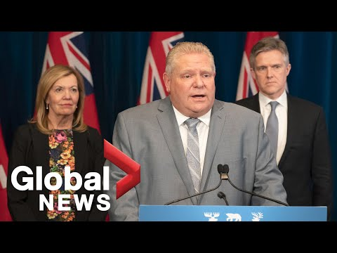 Coronavirus outbreak: Ontario premier says province is working hard to
