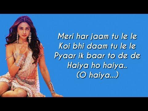 Haiya Ho Full Song Lyrics Marjaavaan  Tulsi Kumar  Jubin Nautiyal  Sahilmix Lyrics