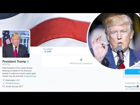 Donald Trump Gets the Official @POTUS Twitter Account | Splash News TV