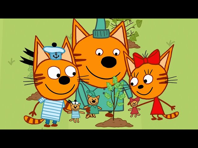 Три кота | Деревья | Новая Серия 123 | Мультфильмы для детей