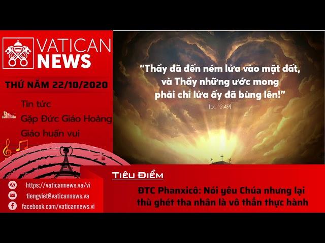 Radio: Vatican News Tiếng Việt thứ Năm 22.10.2020