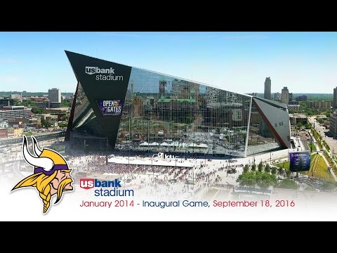 Official Minnesota Vikings U.S. Bank Stadium Construction Time-Lapse