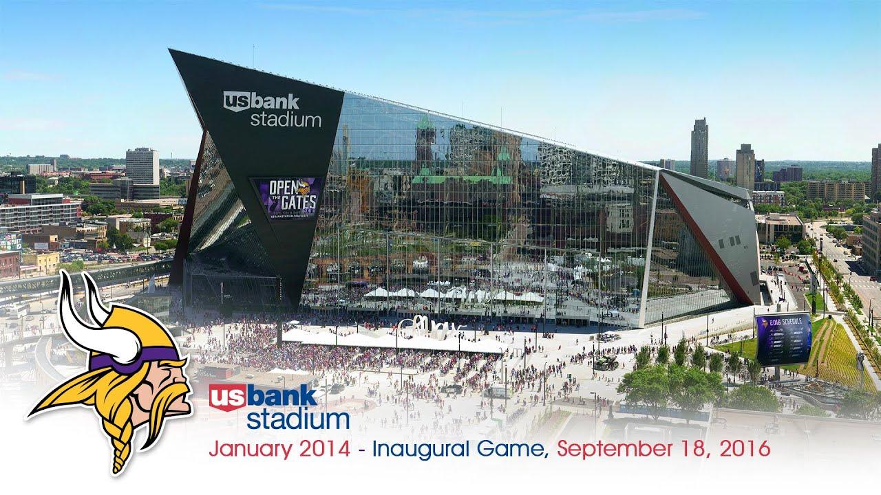 Official Minnesota Vikings U.S. Bank Stadium Construction ...