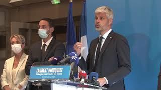 Elections régionales réaction Laurent Wauquiez à Lyon